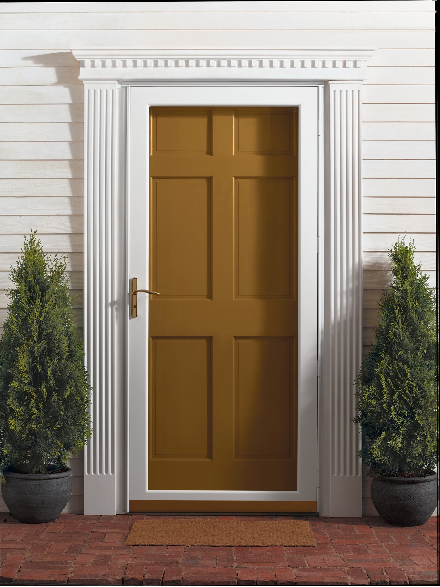 Full View Storm Doors : Emco doors ask if this will fit or can be fitted to our