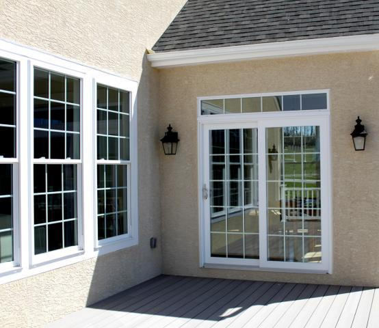 Patio doors lehigh gap for Patio doors with side windows